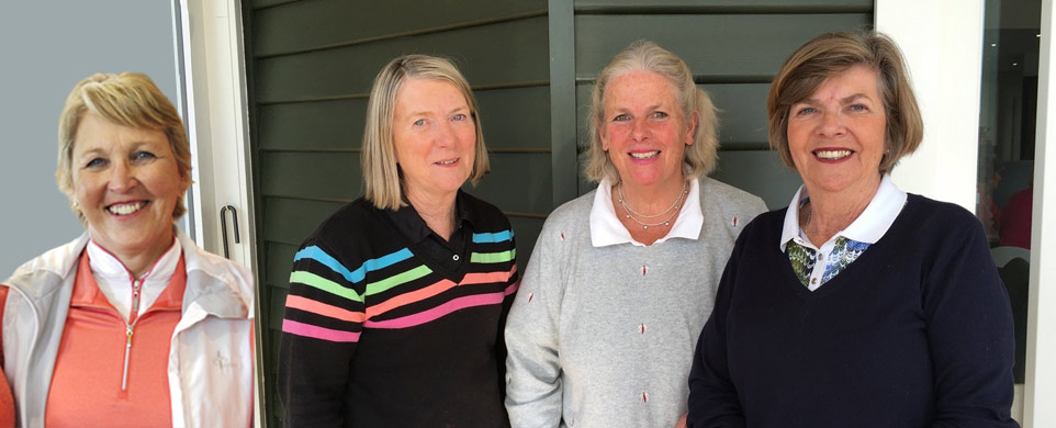Executive of the Women's Inter-School Golf Challenge Cup Committee, Left to right - Alison Davies Asst. Secretary, Sue Thomas Hon Secretary/Treasurer, Anna Tucker President, Cathy Ockleshaw Vice President.