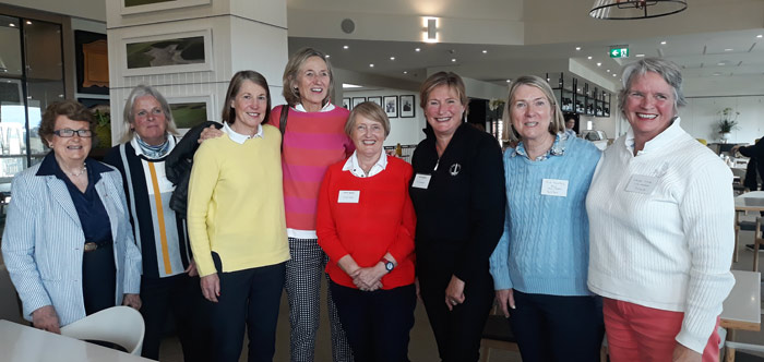 Group of 10 newly inducted life members L to R: Bev Waite, Anna Tucker, Lyn Fraser, Lib Nicholson, Cathy Moran, Kaye Griffin, Sue Thomas, Sally Syme Absent: Helen Smith, Cassie Hornidge.